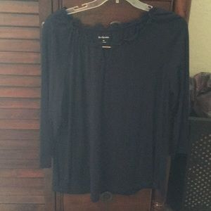 Navy blue 3/4 length top